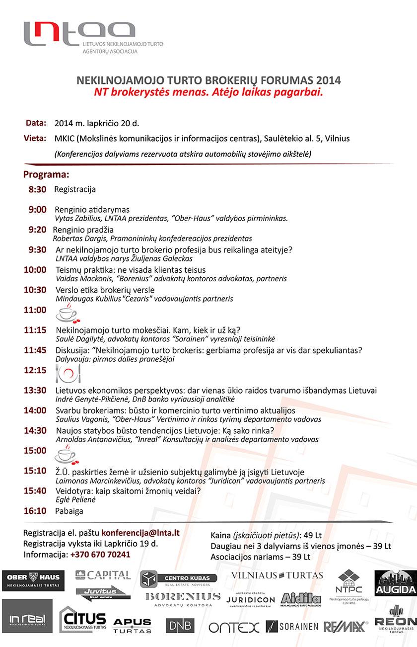 Lietuvos nekilnojamojo turto brokerių forumas 2014